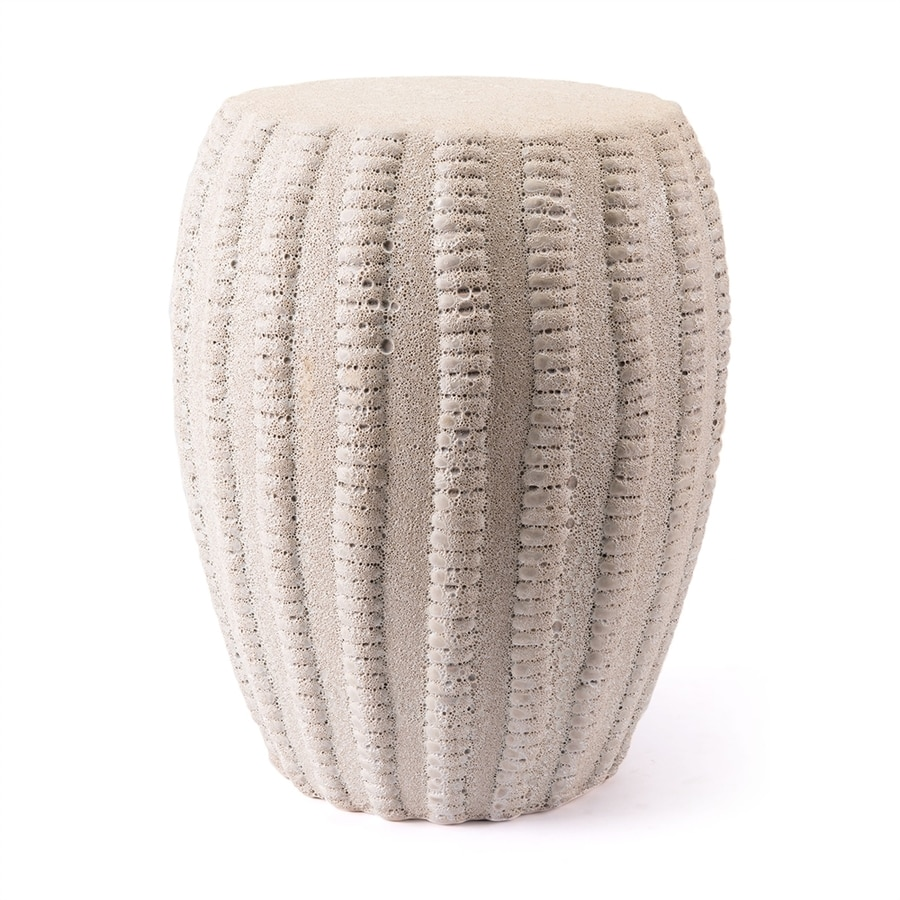Zuo Modern 18 3 In Matte White Ceramic Barrel Garden Stool