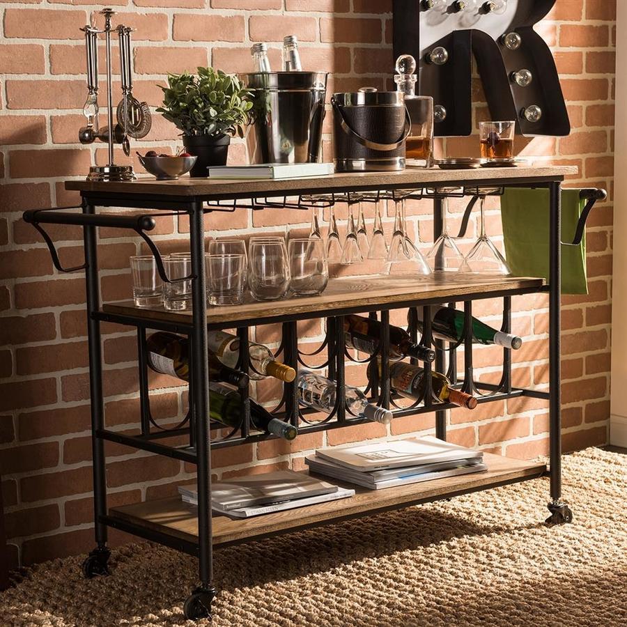 Shop Baxton Studio Black Rustic Kitchen Carts at ...