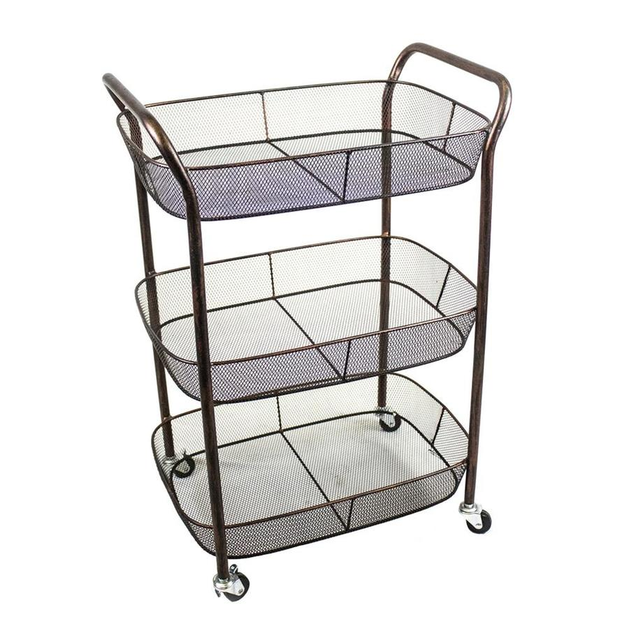 Alera Industrial Kitchen Carts At Lowes Com: Sagebrook Home Brown Industrial Kitchen Cart At Lowes.com