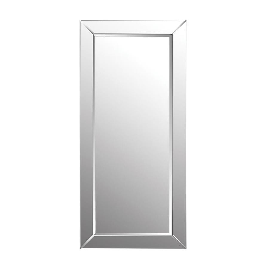 Shop Dimond Home Mirror Beveled Rectangle Frameless Floor Mirror at ...
