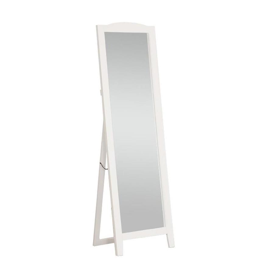 Floor Mirror Lowes: KB Furniture 64-in L X 19-in W White Framed Floor Mirror