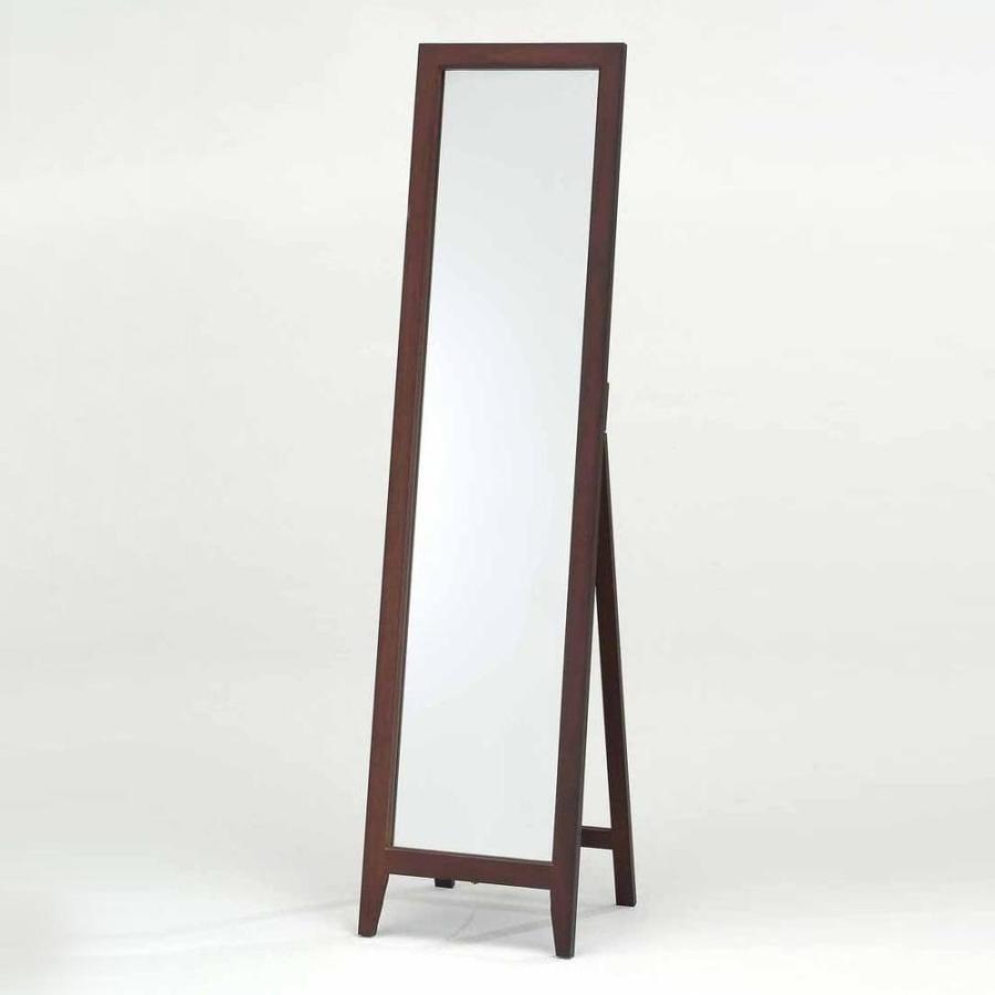Floor Mirror Lowes: KB Furniture 59-in L X 16-in W Walnut Framed Floor Mirror