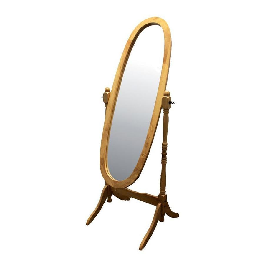 Shop ORE International Cheval Natural Framed Oval Floor Mirror at ...