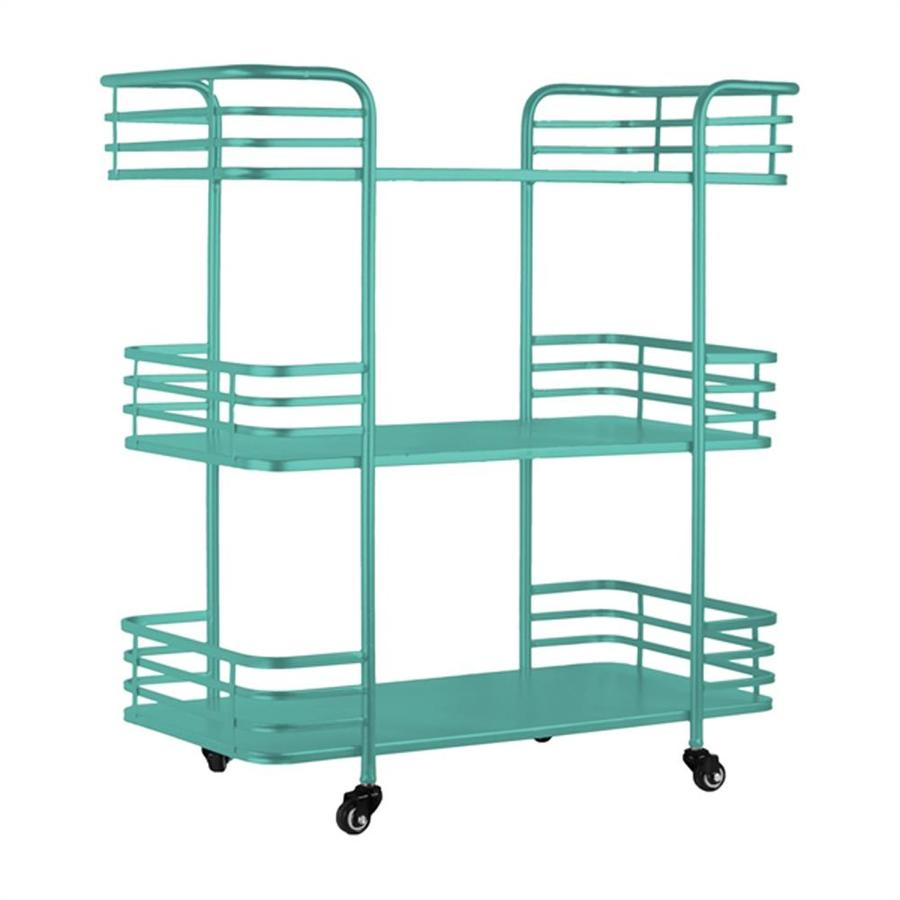 Shop Urban Trends Blue Midcentury Kitchen Cart at Lowes.com
