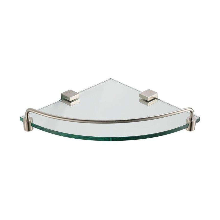Shop Fresca Ottimo-Tier Brushed Nickel Glass Bathroom Shelf at ...
