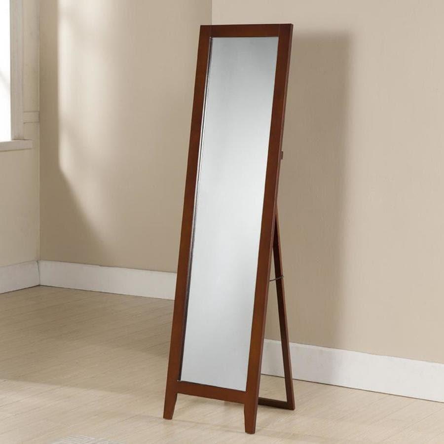 Shop KB Furniture Brown Framed Floor Mirror at Lowes.com