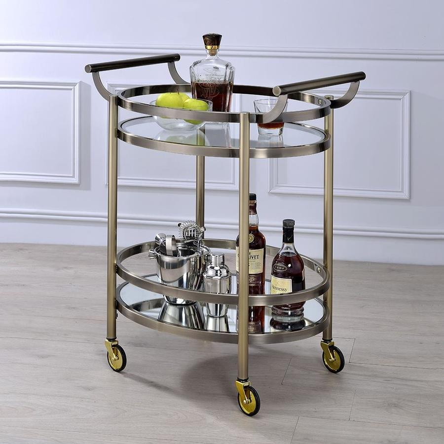 Alera Industrial Kitchen Carts At Lowes Com: Shop ACME Furniture Chrome Industrial Kitchen Cart At