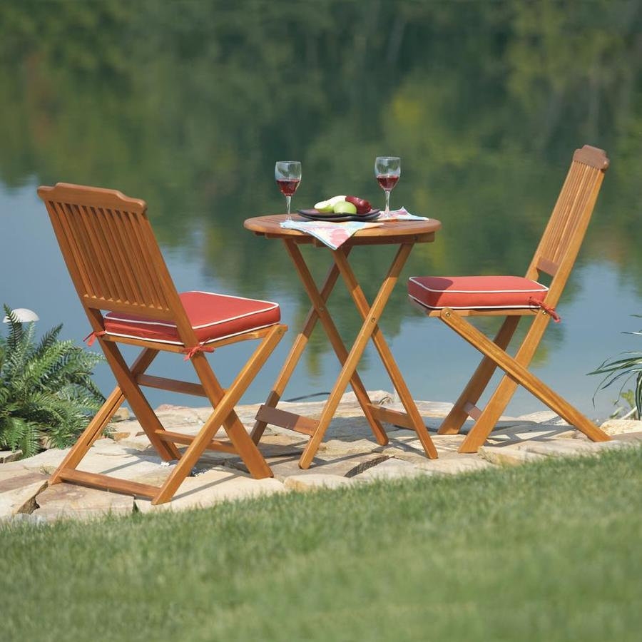 Outdoor Interiors 3 Piece Round Outdoor Bistro Set