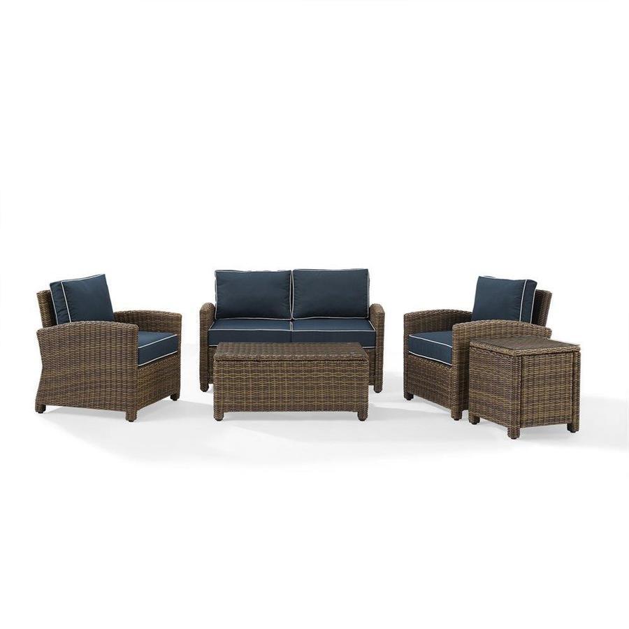 Charmant Crosley Furniture Bradenton 5 Piece Outdoor Wicker Conversation Set