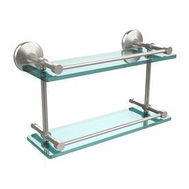 Allied Brass Satin Nickel Glass Bathroom Shelf