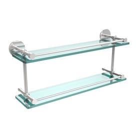 allied brass polished chrome glass bathroom shelf - Bathroom Glass Shelves