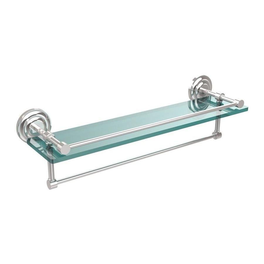 Shop Allied Brass Gallery Polished Chrome Glass Bathroom Shelf at ...