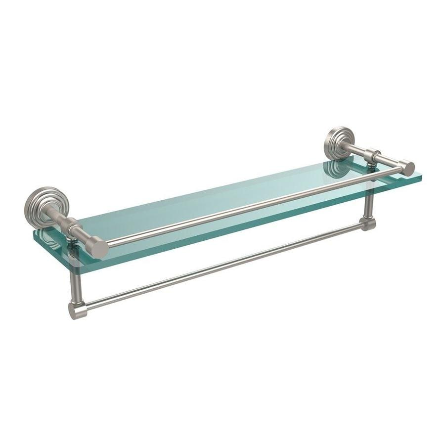 Shop Allied Brass Gallery Satin Nickel Glass Bathroom Shelf at Lowes.com