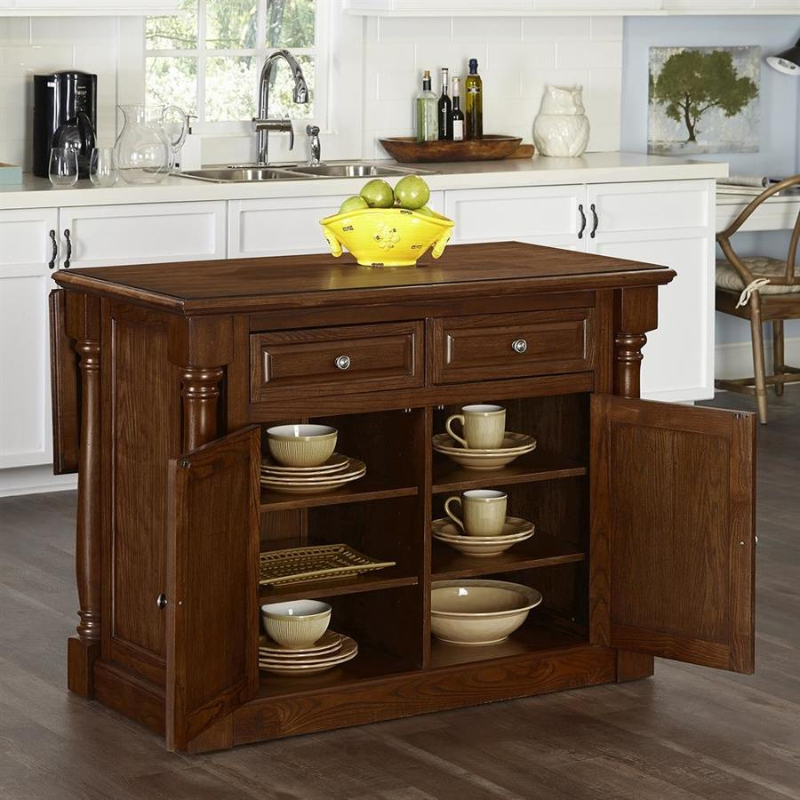 Home Styles Brown Farmhouse Kitchen Islands At Lowes Com: Home Styles Brown Casual Kitchen Island At Lowes.com