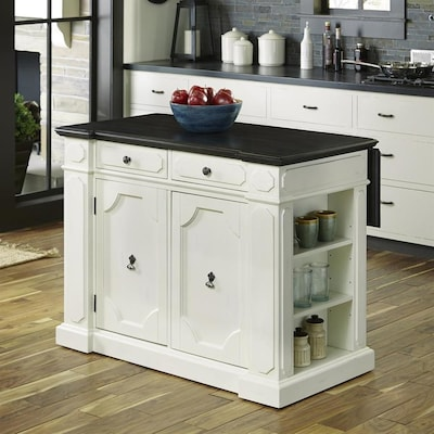 Home Styles White Casual Kitchen Island at Lowes.com