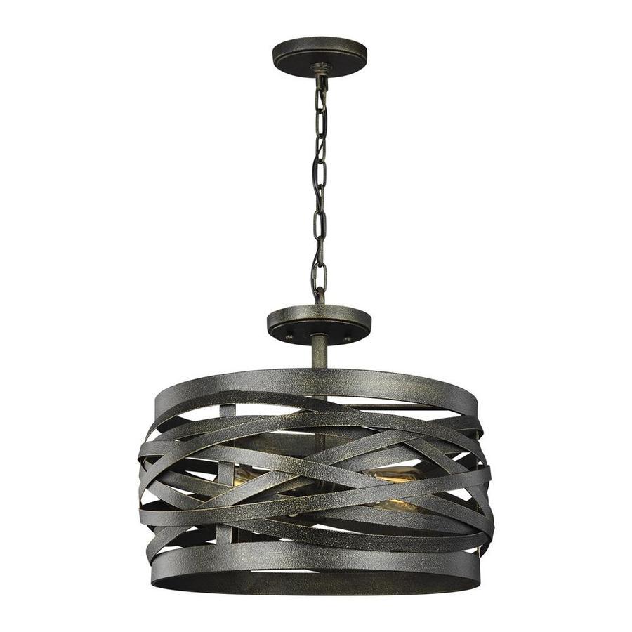Sea Gull Lighting Cowen Obsidian Mist Industrial Drum