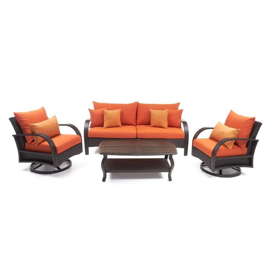 RST Brands Barcelo 4 Piece Motion Club And Sofa Set