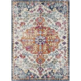 Surya Harput Beige Orange Blue Indoor Area Rug