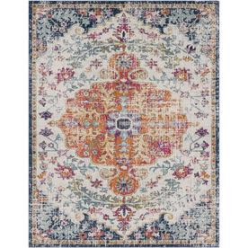 Surya Harput Beige Orange Blue Indoor Distressed Area Rug Common 8 X