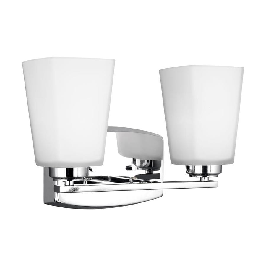 energy bathroom lighting sea gull lighting waseca 2 light 13 25 in chrome rectangle 18240
