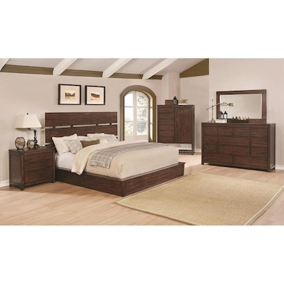 Scott Living Artesia Dark Cocoa King Bedroom Set at Lowes.com