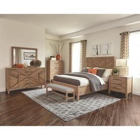 Scott Living Auburn White Washed Natural California King Bedroom Set