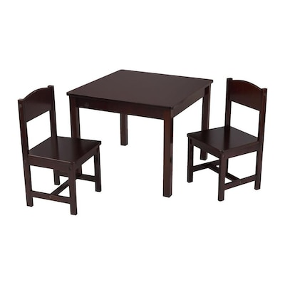 Superb Kidkraft Espresso Square Kids Play Table At Lowes Com Andrewgaddart Wooden Chair Designs For Living Room Andrewgaddartcom