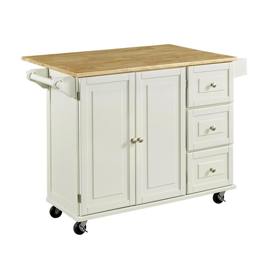 Home Styles Brown Midcentury Kitchen Islands At Lowes Com: Home Styles White Casual Kitchen Cart At Lowes.com
