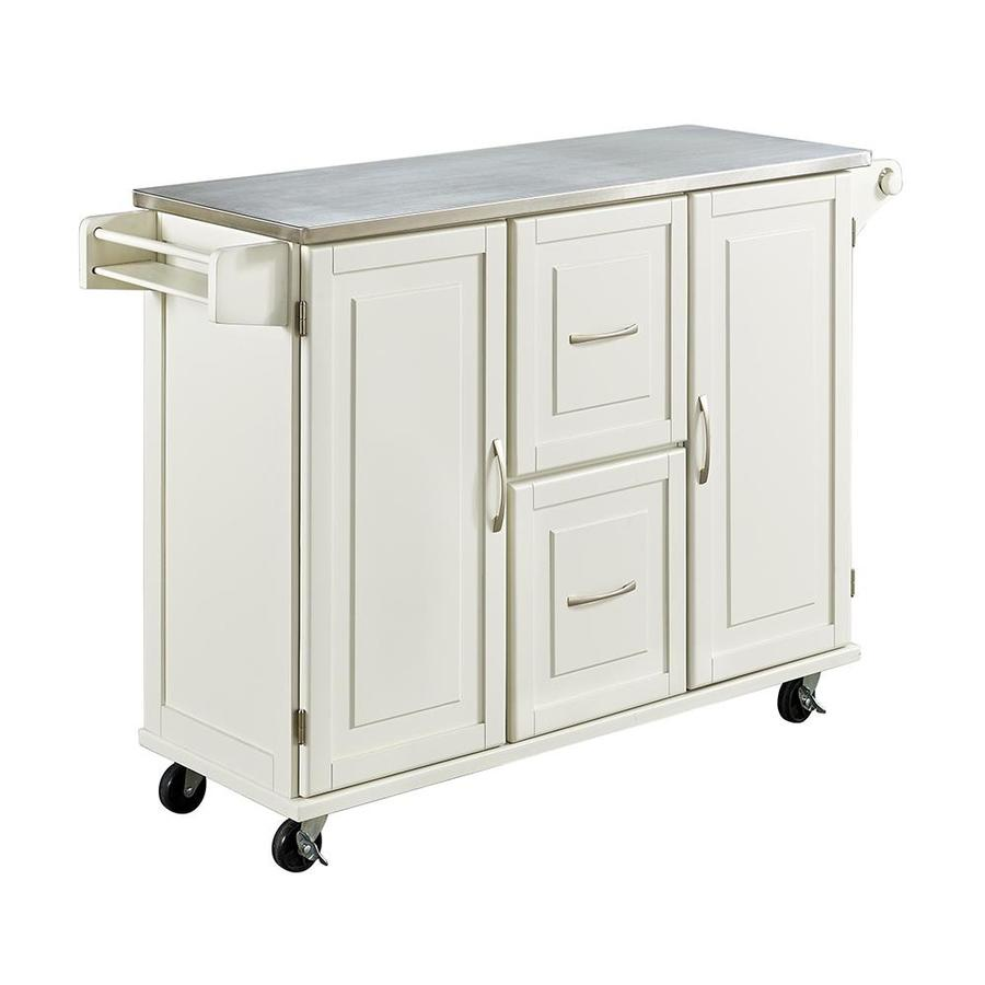 Home Styles White Scandinavian Kitchen Carts At Lowes Com: Home Styles White Casual Kitchen Cart At Lowes.com
