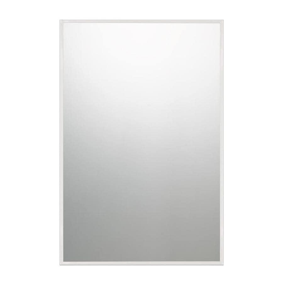 Quoizel 36 In L X 24 W Polished Chrome Framed Frameless Wall Mirror