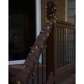 Flipo 100 Led Warm White String Light W Brown