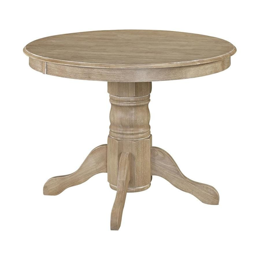 Home Styles Clic White Wash Wood Round Dining Table