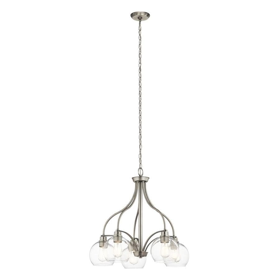 Kichler Harmony 5-Light Brushed Nickel Transitional Clear