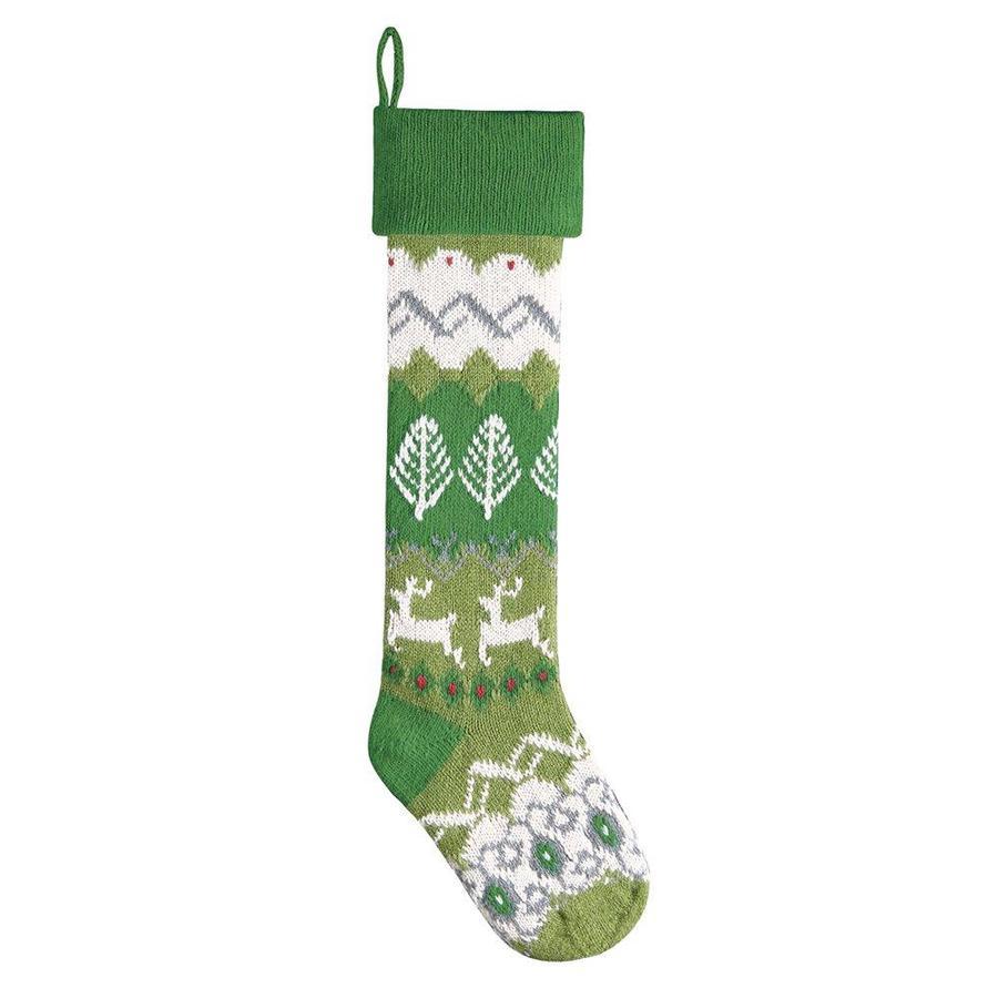 Shop C&F Enterprises 27.5-in Multiple Colors Knit Christmas Stocking ...