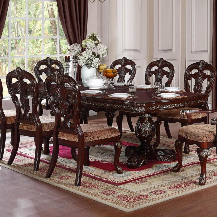 Homelegance Deryn Park Traditional Dining Table And Chair: Homelegance Deryn Park Cherry Composite Extending Dining
