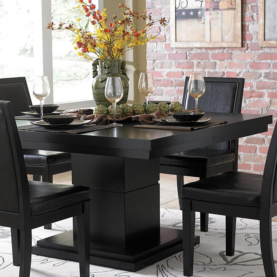 Homelegance Deryn Park Traditional Dining Table And Chair: Homelegance Deryn Park Black Composite Dining Table At