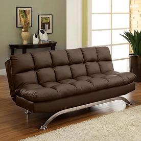 Furniture Of America Aristo Dark Brown Faux Leather Futon
