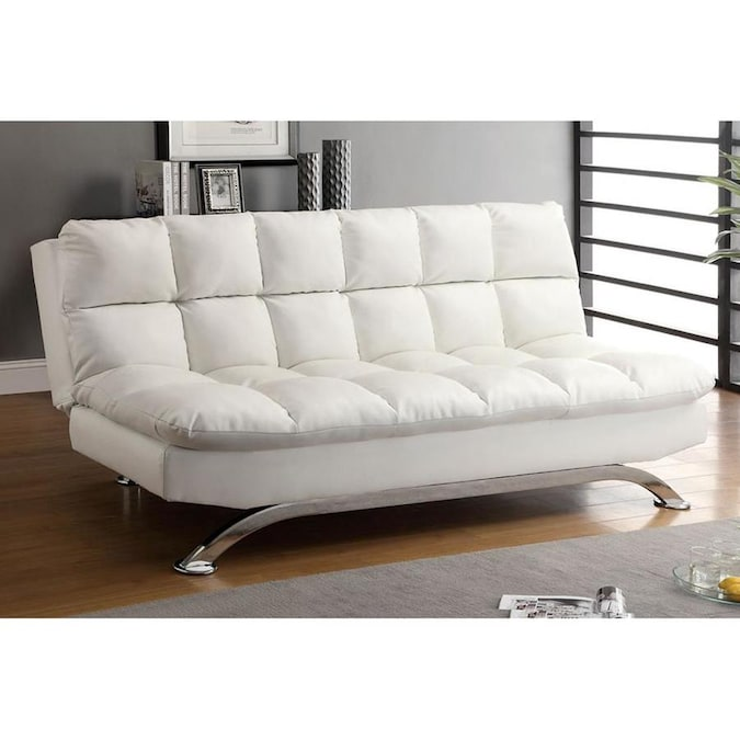 White Faux Leather Futon At Lowes Com