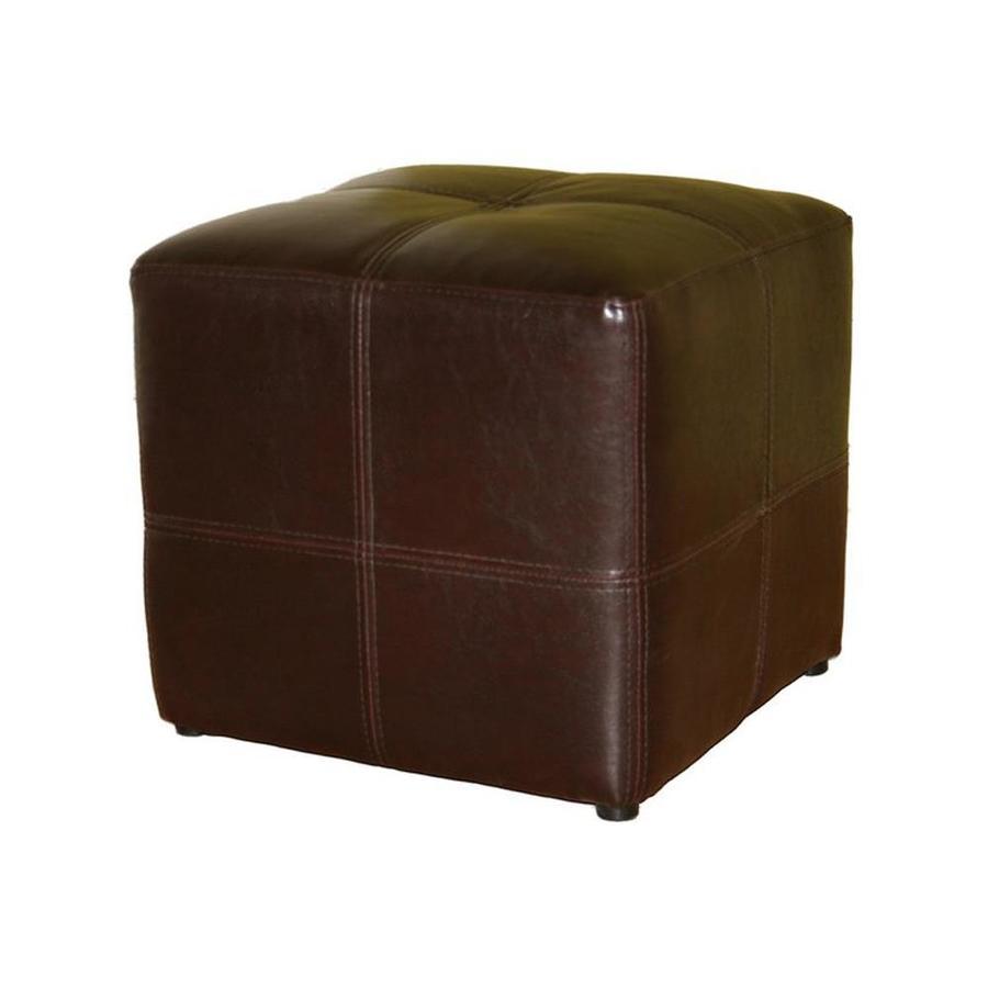 Baxton Studio Nox Casual Espresso Faux Leather Ottoman