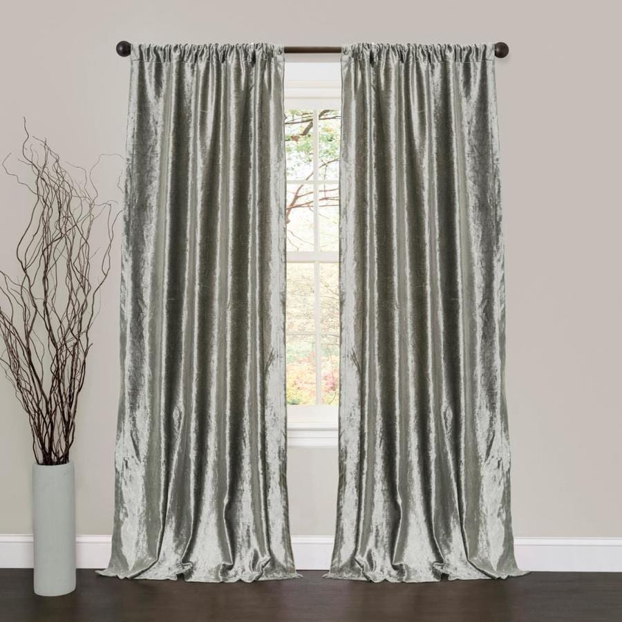 Lush Decor Velvet Dream 84 In Silver Polyester Rod Pocket Curtain Panel Pair
