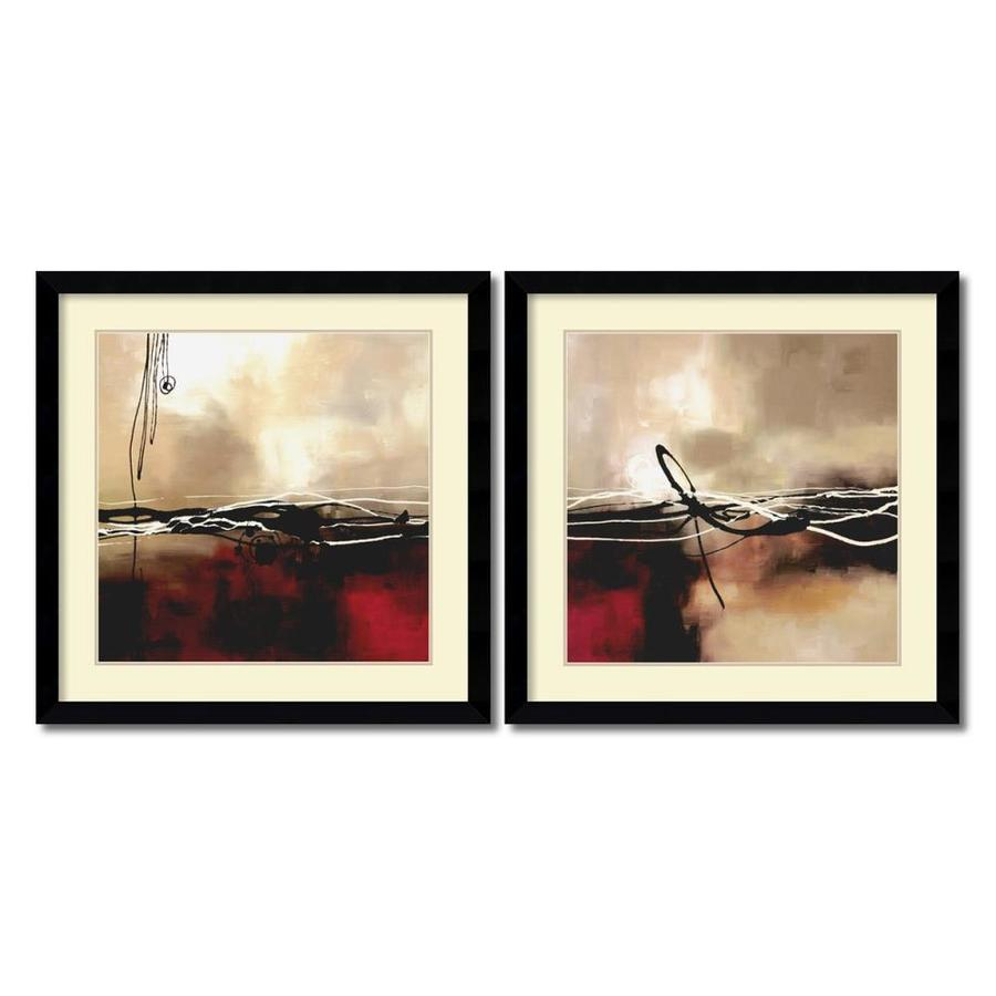 Shop Amanti Art 2-Piece Framed Abstract Paper Print at Lowes.com
