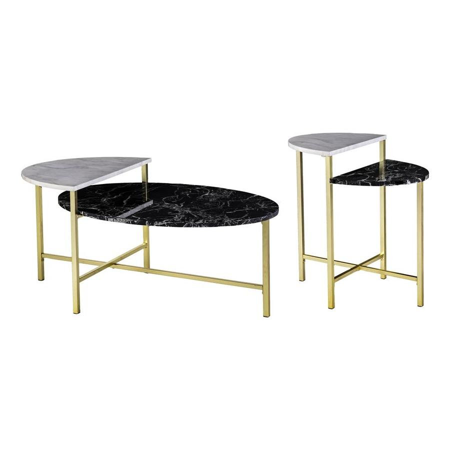 Holly U0026 Martin Bickly 2 Piece Black And White Accent Table Set