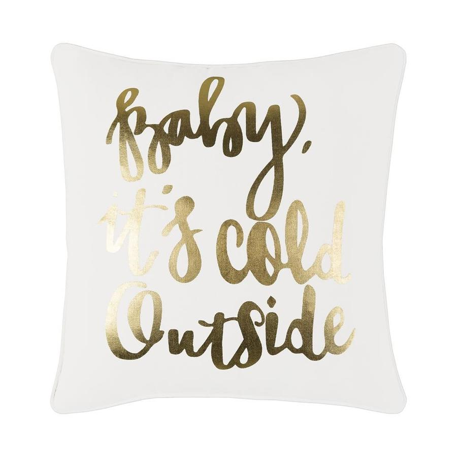 Surya Baby Its Cold Outside Throw Pillow Kit At Lowes Com