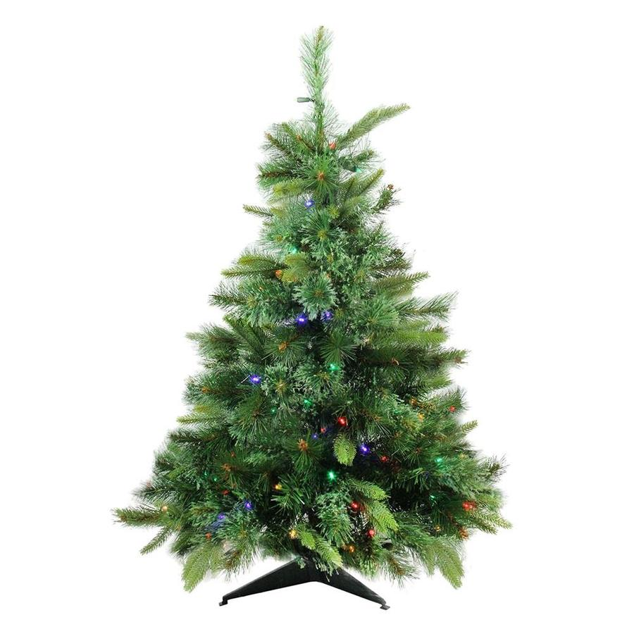 northlight 3 ft pre lit cashmere pine artificial christmas tree with 100 constant multicolor - 3 Ft Pre Lit Christmas Tree
