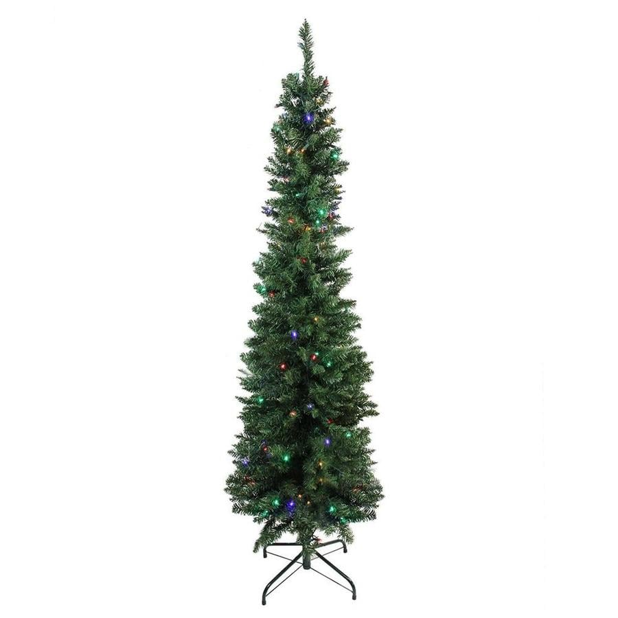 Northlight 6 Ft Pre Lit Balsam Fir Slim Artificial Christmas Tree