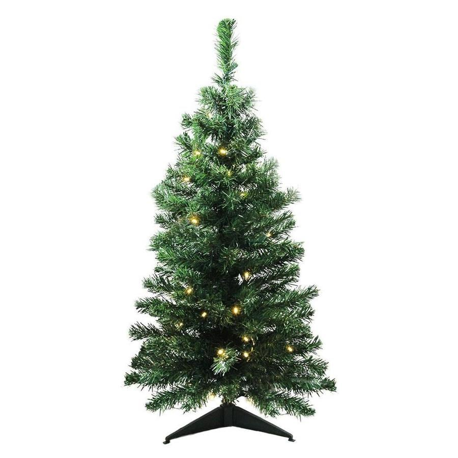 Northlight 3 Ft Pre Lit Classic Pine Artificial Christmas Tree With 40 Constant White Clear Led Lights In The Artificial Christmas Trees Department At Lowes Com