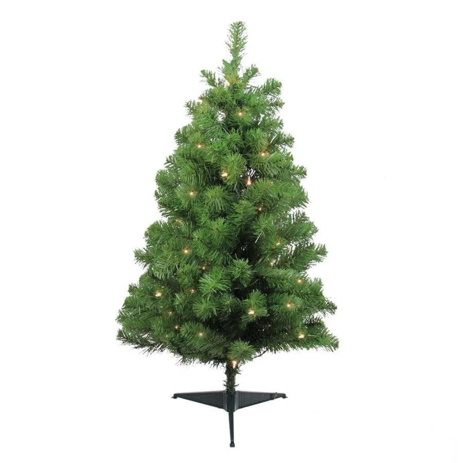 Shop Northlight 3-ft Pre-lit Noble Fir Artificial Christmas Tree ...