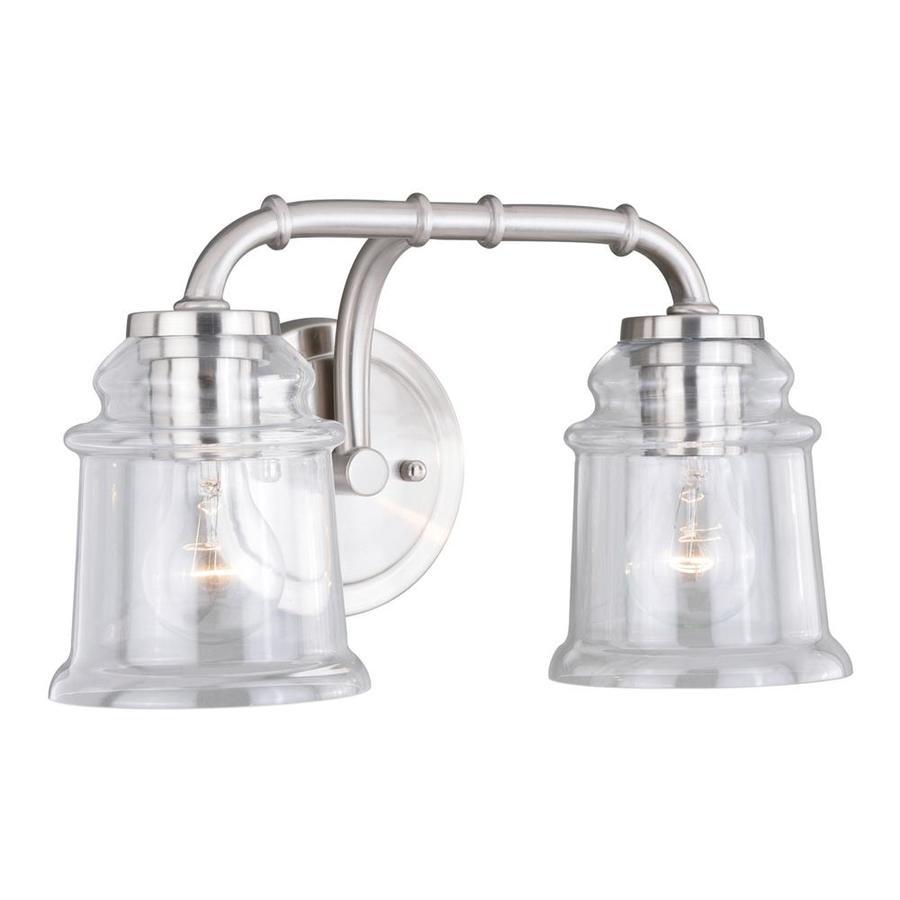 Cascadia Lighting Halifax 2 Light Bathroom Vanity: Cascadia Lighting Toledo 2-Light 8.25 Satin Nickel Bell Vanity Light Bar At Lowes.com