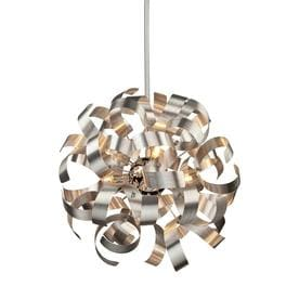 Shop artcraft lighting halogen pendant lighting at lowes artcraft lighting bel air 180 in brushed nickel hardwired single pendant aloadofball Images