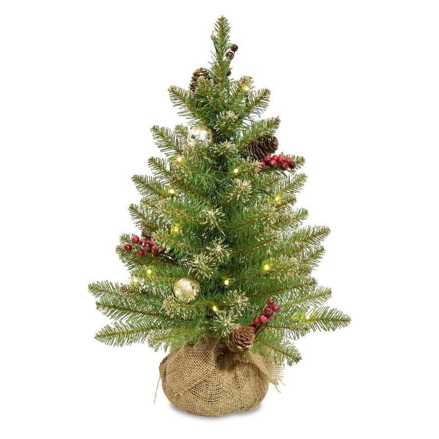 2 Ft White Christmas Tree: National Tree Company 2-ft Pre-lit Artificial Christmas